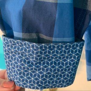 Ted Baker contrast flip cuff shirt